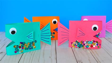 free craft ideas for paper fish craft diy crafts 7729