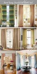 design tip how long should curtains be floating above With should curtains go to the floor