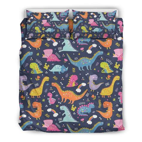 Draw my life is a story of one of the biggest cartoon monster. Cartoon Dino Dinosaur Pattern Print Duvet Cover Bedding ...