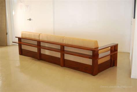 exposed wood frame sofa classic design june 2013