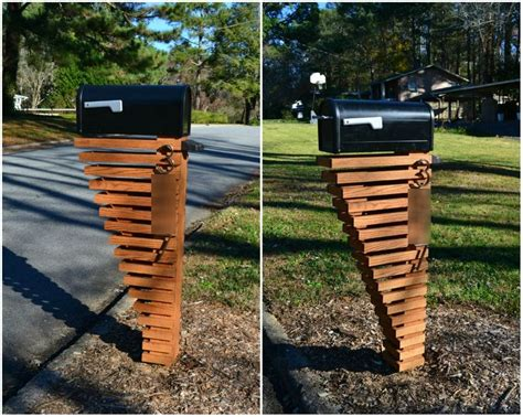 Mailbox Post Design Ideas, Photos Of Ideas In 2018> Budas.biz Hawaiian Costumes Diy Log Home Fun Diys To Do At Diesel Generator Bean Bags Hay Baler Granite Sealer Steampunk Decor