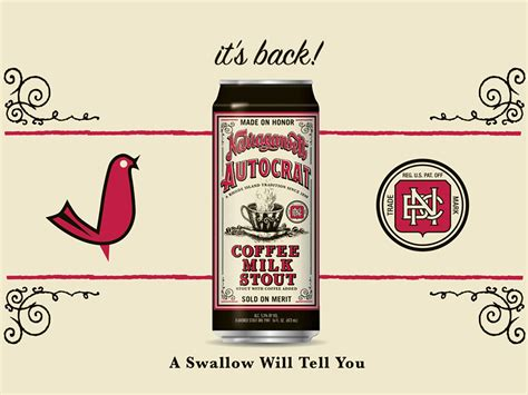 Autocrat coffee milk stout combines the autocrat coffee syrup with narragansett's milk stout, and the result couldn't be more rhode island unless they slapped a picture of peter griffin on the tall boy can. Narragansett Beer | Autocrat Coffee Milk Stout Now Available! - Narragansett Beer