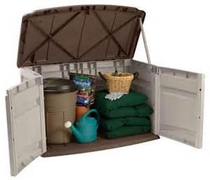suncast gs1000b 20 cu ft durable portable resin horizontal storage home shed ebay