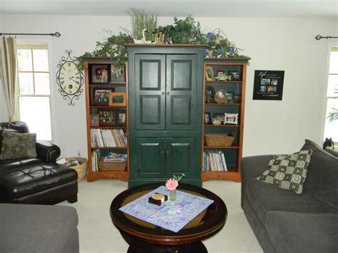 decorating  tv armoire joyful daisy