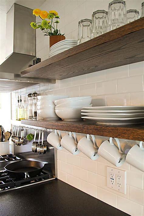interesting  practical shelving ideas   kitchen