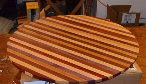 crafted butcher block table top for wine barrel by darbynwoods woodworking