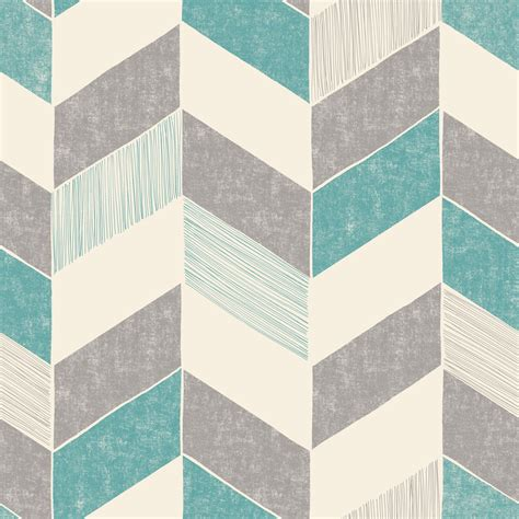 Designer wallpaper, wallpaper borders and full wall wallpapers are a great way to make a room's décor look really special. Fine décor Astrid Teal Geometric Wallpaper   Departments   DIY at B&Q
