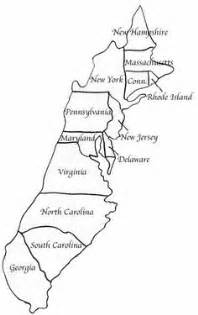 13 Colonies Map Labeled  My blog