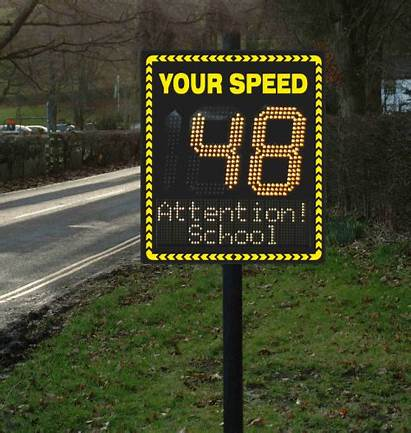 Speed Radar Sign Activated Programmable Line Text