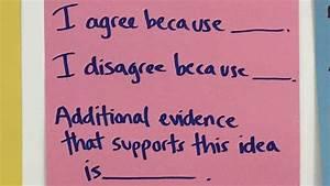 Using Sentence Frames
