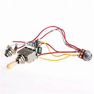 3 Way 1v1t 500k Toggle Switch Guitar Wiring Harness For Lp
