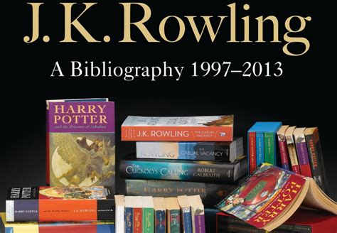 New Jk Rowling Bibliography Will Reveal Secrets About