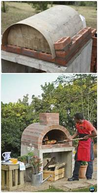 how to build an outdoor pizza oven DIY Outdoor Pizza Oven Ideas & Projects Instructions
