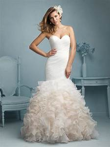 Allure bridals style 9223 for Wedding dress with ruffles on bottom