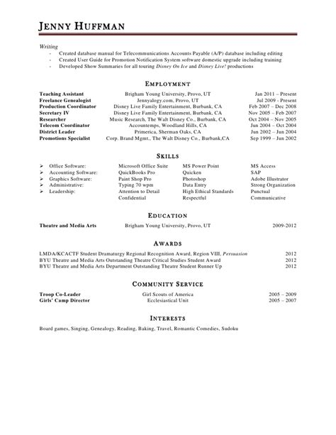 Show A Resume by Huffman Resume 2012