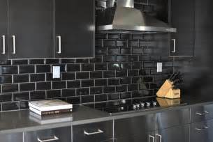 black backsplash in kitchen stainless steel kitchen cabinets with black subway tile backsplash contemporary kitchen