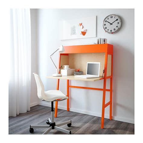 bureau secretaire ikea ikea ps 2014 bureau orange birch veneer 90x127 cm ikea