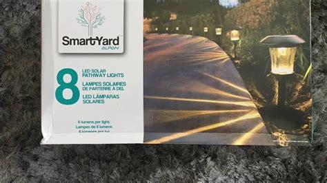 smartyard led solar pathway lights smartyard solar led large pathway lights from costco youtube
