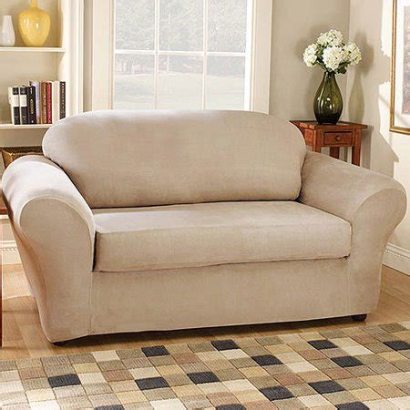 Loveseat Cover Walmart by Sure Fit Suede Sofa Stretchable Slipcovers Walmart