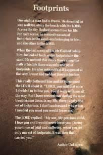 God Footprints in Sand Poem