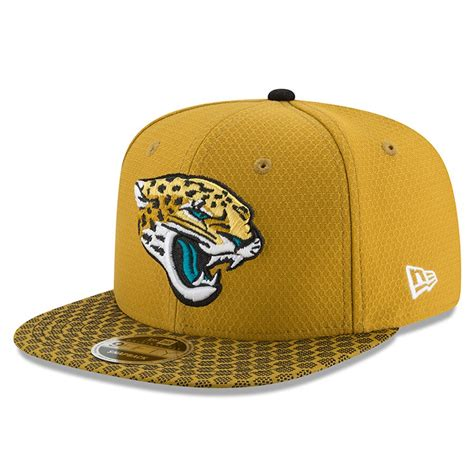 Men's New Era Gold Jacksonville Jaguars 2017 Sideline ...