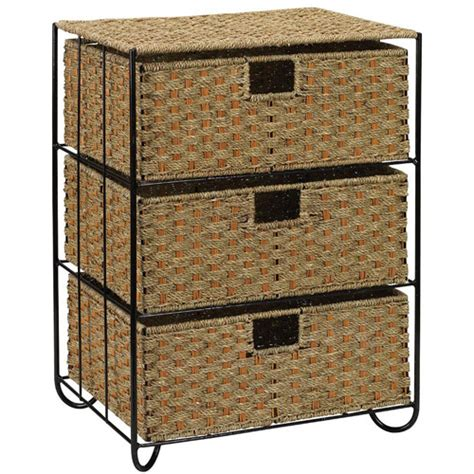 3 Drawer Wicker Chest Walmart by Household Essentials Seagrass 3 Drawer Chest Walmart