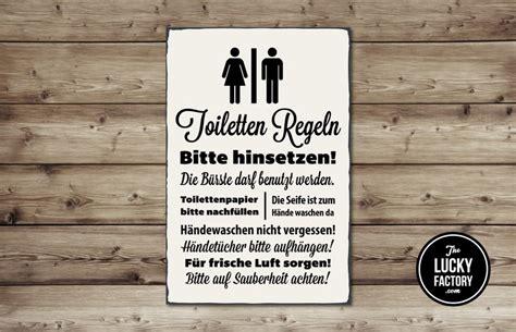 toilettenregeln schild kreativliste
