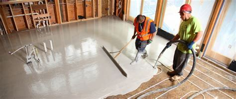 Ultra Quiet Floors   Radiant Floor Toppings