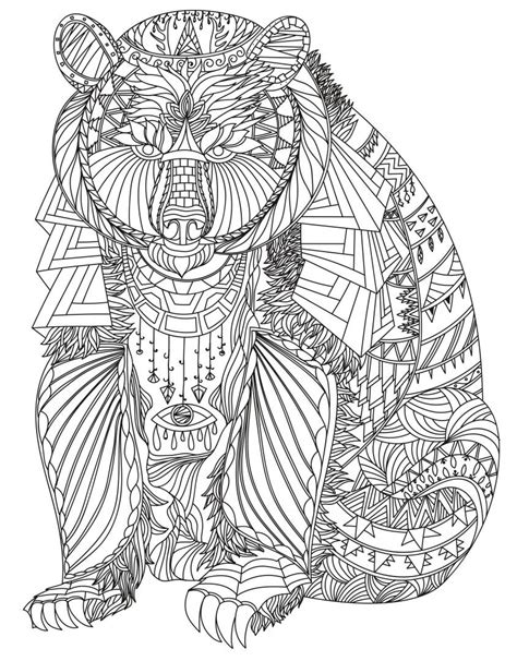 pin  julia  colorings adult coloring pages bear