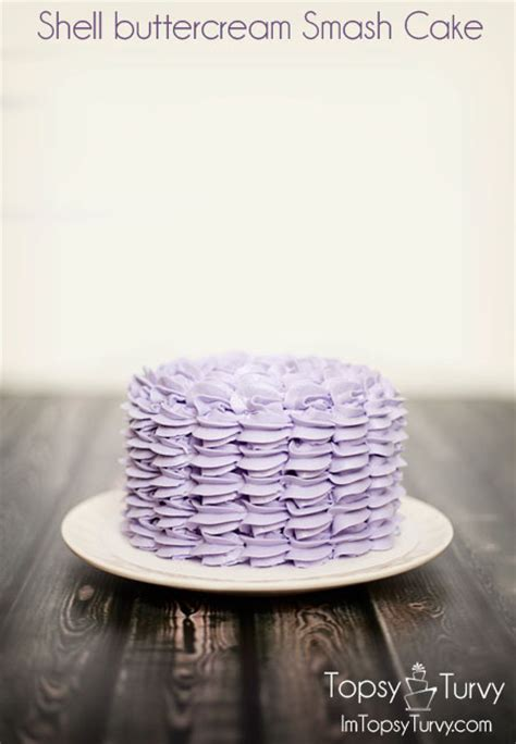 shell buttercream smash cake ashlee marie real fun