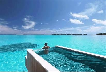 Pool Water Maldives Ocean Laamu Natural