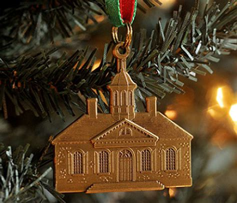colonial williamsburg courthouse christmas ornament
