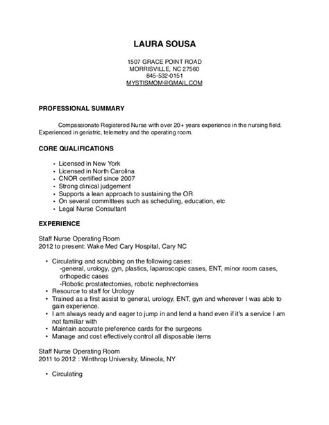 Professional Summary Exles For Nurses by Resume 2
