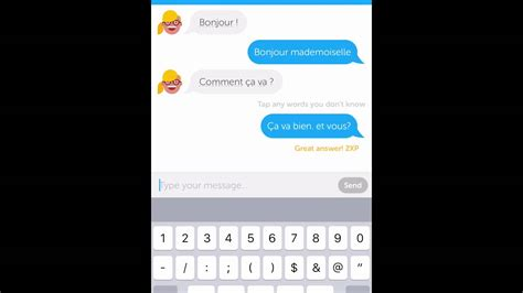 duolingo app chat feature youtube