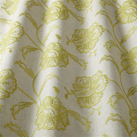 Drapery Cloth by Iliv Chantilly Curtain Fabric Embroidered Linen