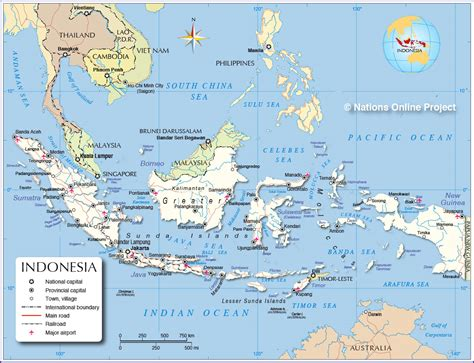 political map  indonesia maritime southeast asia