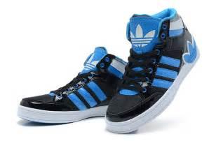 Boys Blue Adidas High Top Shoes