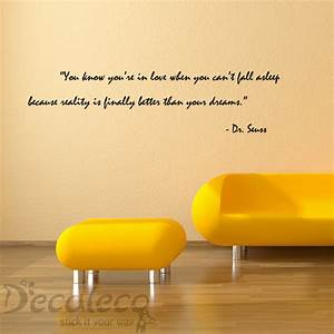 love and dreams vinyl wall quote from dr seuss wall With good look dr seuss quotes wall decals