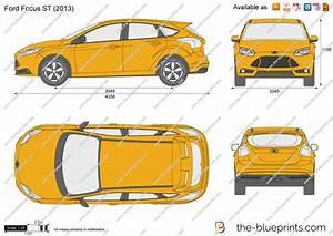 Dimension Ford Focus 3 : ford focus st vector drawing ~ Medecine-chirurgie-esthetiques.com Avis de Voitures