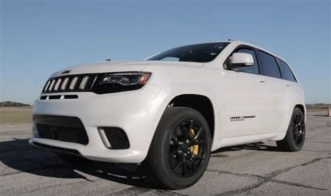 jeep trackhawk back why hennessey 39 s jeep trackhawk testing is more impressive