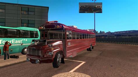 school bus freightliner  beta american truck bus mod