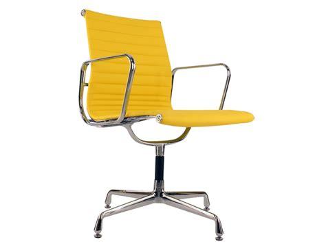 chaise de bureau jaune chaise visiteur ea108 jaune