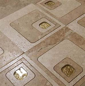 Bodenbelag über Fliesen : naturstein fliesen mit gold effekt ideen f r wand und ~ Articles-book.com Haus und Dekorationen