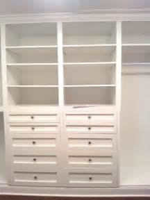 Built in Closet Cabinets with Drawers