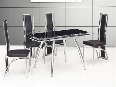 small black dining table set small black extending glass dining table and 4 chairs
