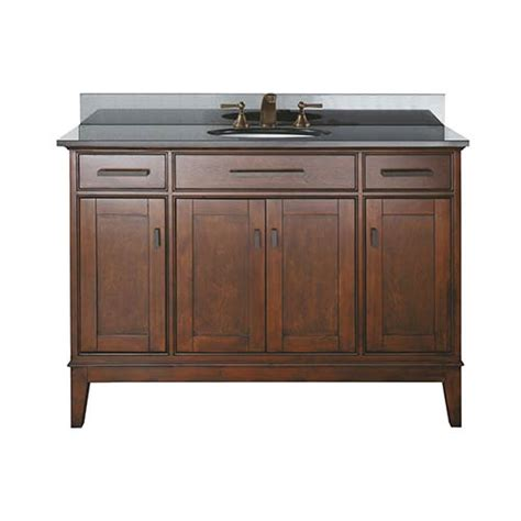 48 Inch Black Bathroom Vanity Without Top by 1804madis48ta