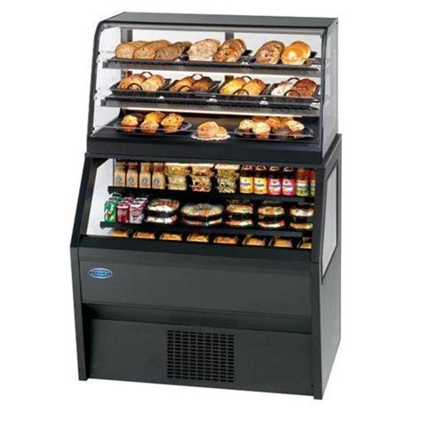signature furniture warranty federal industries bakery display combo 36 quot curved glass refrigerated open base with non