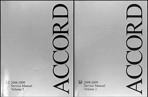 Honda Accord 4 Cylinder Shop Manual Set 2008 2009 Original