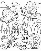 Coloring Bug Pages Printable Getcolorings Bugs Colouring sketch template