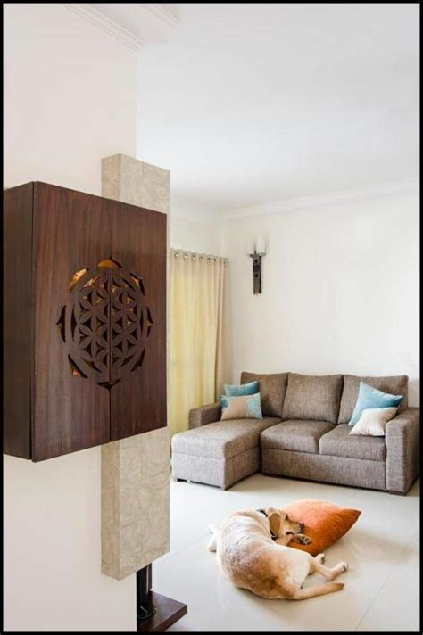 Houzify Home Design Ideas by Pooja Unit Designs In Living Room Wallpaperall